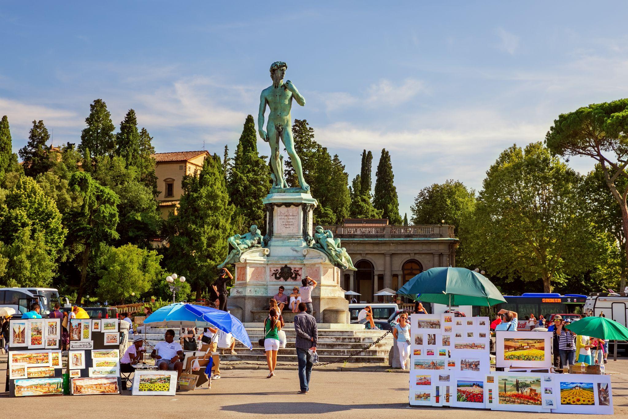 Πλατεία Michelangelo (Piazzale Michelangelo), Φλωρεντία, Ιταλία, Ευρώπη