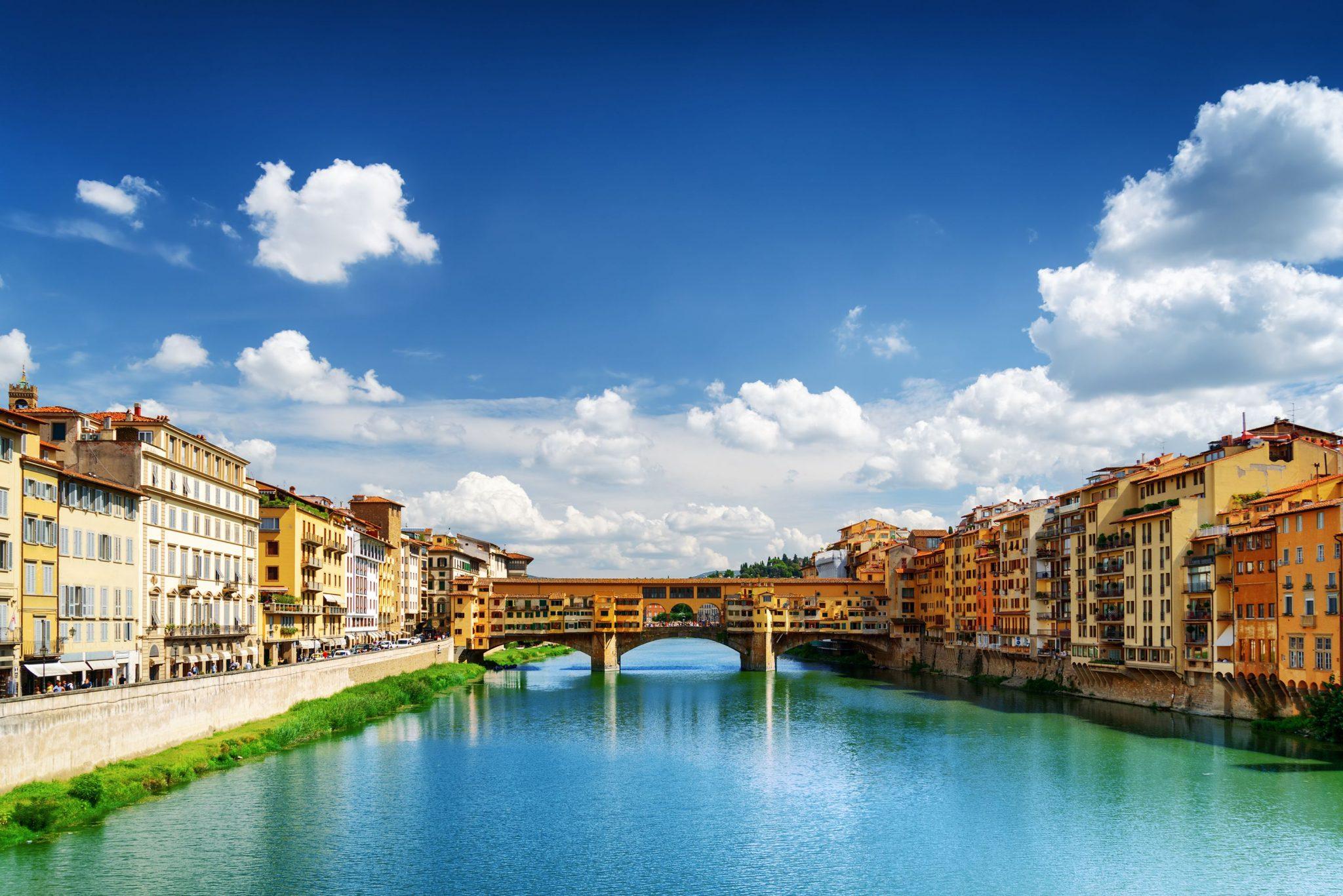 Γέφυρα Πόντε Βέκιο, Φλωρεντία, Ιταλία, Ευρώπη