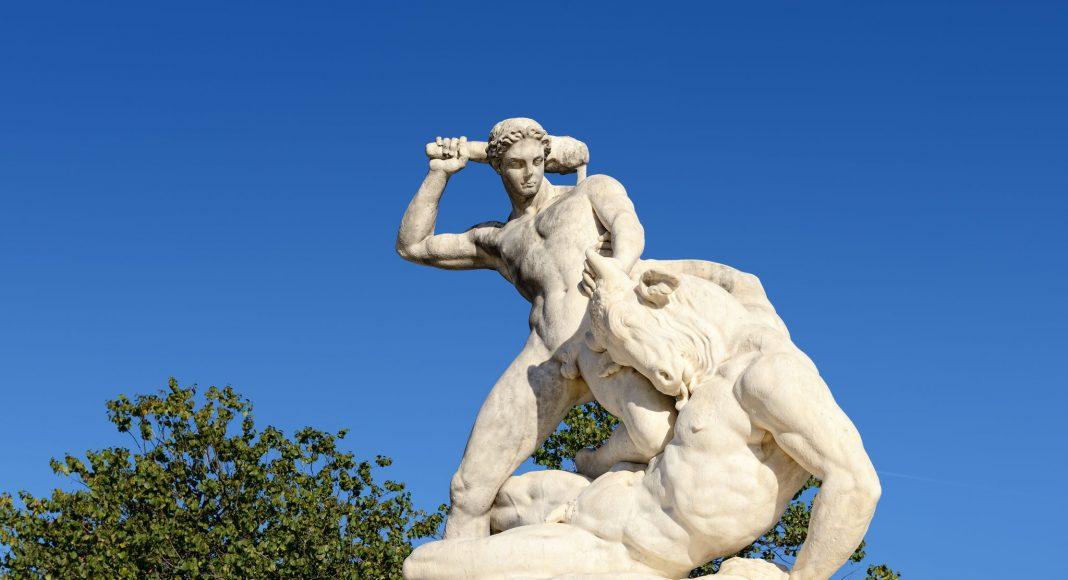 Άγαλμα Ηρακλή & Μινώταυρου, Ο Κήπος του Κεραμεικού (Jardin des Tuileries), Παρίσι, Γαλλία, Ευρώπη