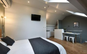 Υπνοδωμάτιο, Hotel Résidence Montebello, Παρίσι, Γαλλία, Ευρώπη
