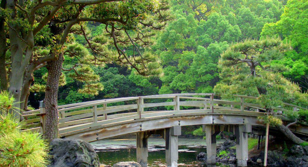 Κήποι Hama Rikyu (浜離宮恩賜庭園 (Hama-rikyū Onshi Teien)) , Τόκιο, Ιαπωνία, Ασία